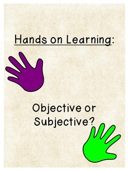 Subjective and Objective Task Cards