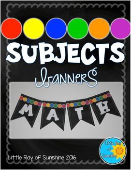 Subjects Banner - Chalkboard