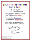 Subjects Predicates Song