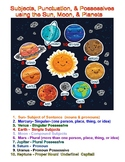 Subjects, Punctuation, & Possessives using the Sun, Moon, & Planets