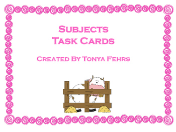 Subjects Task Cards