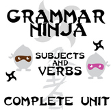 Subjects Verbs Complete Unit - Lessons, Assessments, Answer Keys - Grammar Ninja