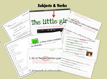 Subjects & Verbs Lesson (Video & Prezi) w/ Assessments