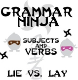 Subjects Verbs w/ Lie vs. Lay - Irregular Verbs - Grammar Ninja