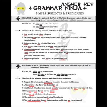 Subjects Verbs w/ Simple Subjects and Verbs - Grammar Ninja