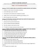 Subjects and Predicates Assessment - Subject and Predicates
