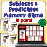 Subjects and Predicates Concentration Game