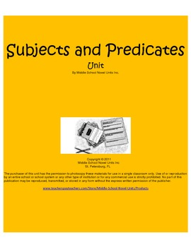 Subjects and Predicates Daily Mini Grammar Lessons