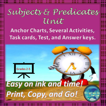 Subjects and Predicates Full Unit