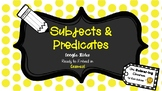 Subjects and Predicates: Google Slides to Embed in Canvas