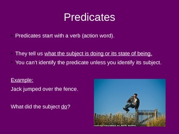Subjects and Predicates: Grade 3