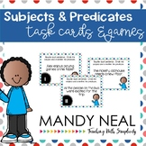 Subjects and Predicates Grammar Task Cards, Games, and Centers