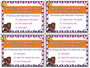 Subjects and Predicates  (Great for 2nd Grade Grammar Journeys Unit 1 Lesson 1)