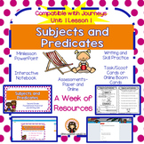 Subjects and Predicates  (Great for 2nd Grade Grammar Jour