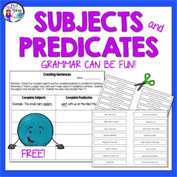 Subjects and Predicates:  Interactive Games for Introducti