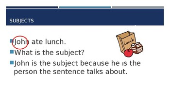 Subjects and Predicates PowerPoint Trivia