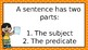 Subjects and Predicates Powerpoint Presentation