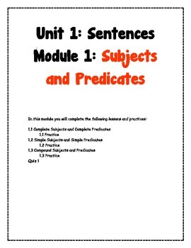 Subjects and Predicates Practice