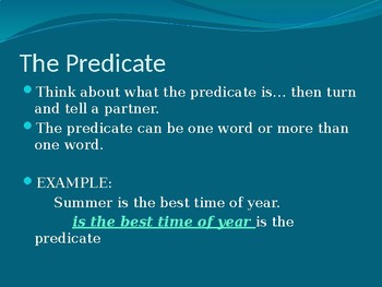 Subjects and Predicates Review