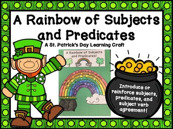 Subjects and Predicates St. Patrick's Day Learning Craft