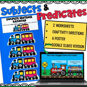 Subject and Predicate Craftivity! Use a train engine and a caboose to help your students understand the concept of subjects and predicates!
