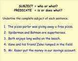 Subjects and Predicates for your Elementary Students!