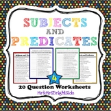 Subjects and Predicates in a Sentence