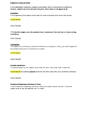 Subjects in Unusual Order Guided Notes