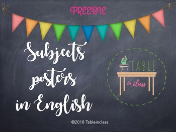 Subjects posters in English