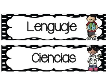 Subjects signs in Spanish