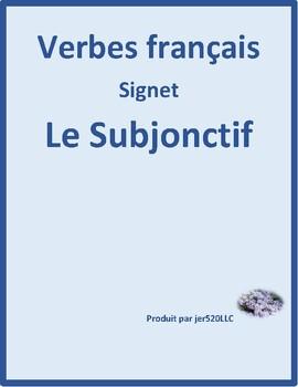Subjonctif (Subjunctive in French) Bookmark
