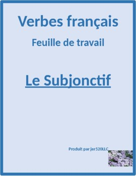 Subjonctif (Subjunctive in French) worksheet 1