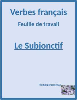 Subjonctif (Subjunctive in French) worksheet 2