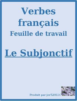 Subjonctif et Indicatif in French worksheet 3