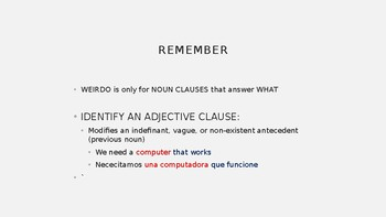 Subjunctive Adjective Clauses