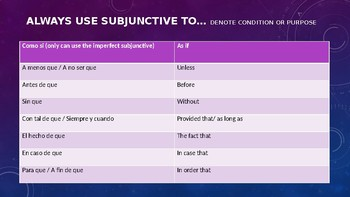 Subjunctive Adverbial Clauses