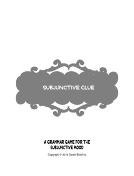 Subjunctive Clue