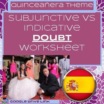 Subjunctive vs. Indicative Doubt Worksheet