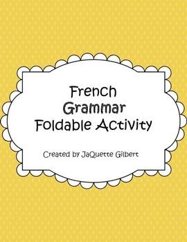 French Grammar Foldable