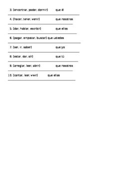 Subjunctive Guided Notes