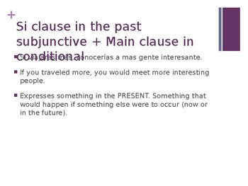 Subjunctive Hypothetical/ If Clauses