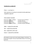 Subjunctif Introduction and Activities (French Subjunctive) CEFR