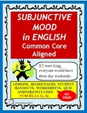 SUBJUNCTIVE MOOD in English, No-Prep, Aligns with Common Core