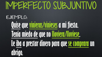 Subjunctive Review (present & past)
