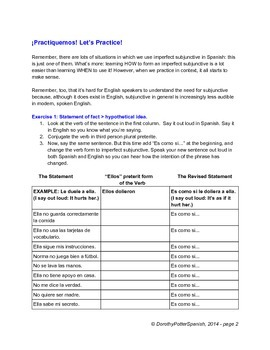 """Subjunctive Situations: Practicing Imperfect Subjunctive with """"Es como si"""""""