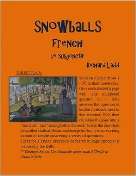 Subjunctive Snowballs FRENCH