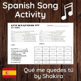 Subjunctive Song Activity: Que me quedes tú (Shakira)