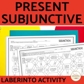 Present Subjunctive Spanish Laberinto Practice Activity