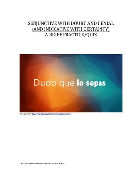 Subjunctive With Doubt and Denial