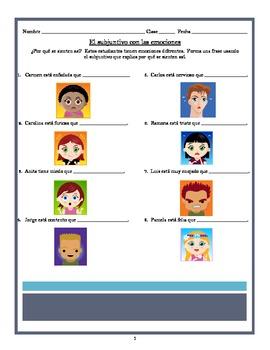 Subjunctive Worksheet Practicing Emotions